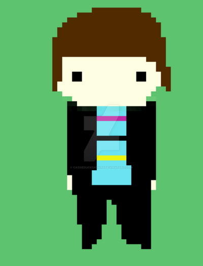 I made myself in pixel art \_(.w.)_/ by CassieSucksAtArt