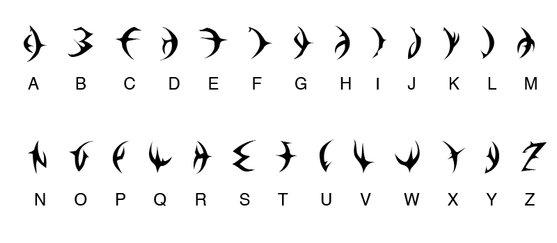 Dragon Booster Alphabet. by Sami-SDGForce