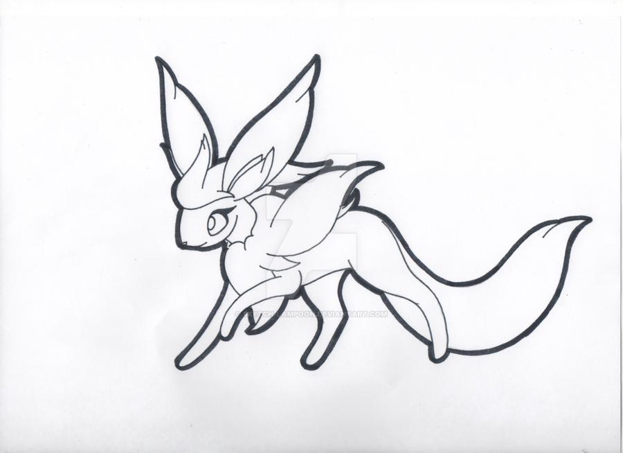 Nimbeon Flying Eevee By Sketch Lampoon On Deviantart