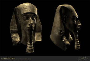 Akhenaten - 3d Sculpt by thadeemon