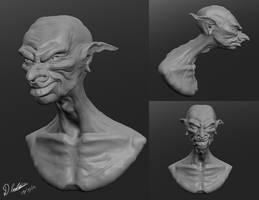 Goblin Sculptris Quick Sculpt by thadeemon