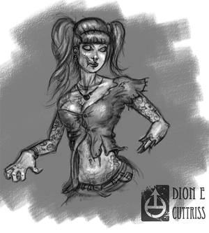 Zombie Chick Sketch