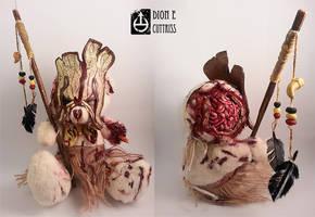 Custom shaman-zombie teddy I made