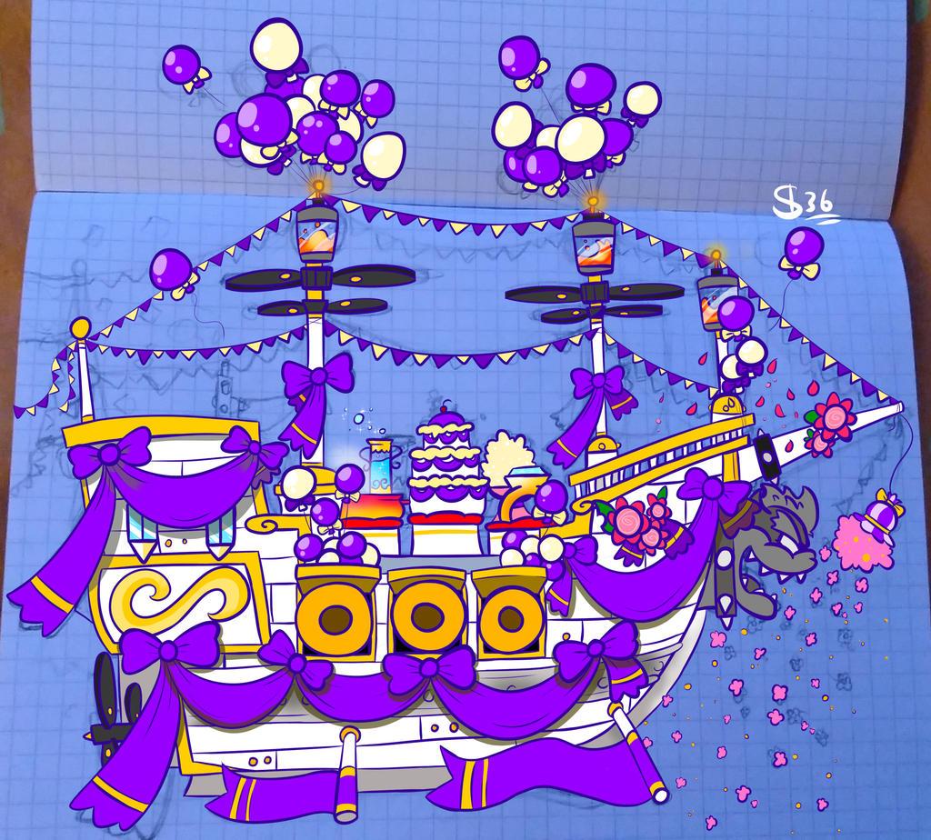 Wedding Airship Super Mario Odyssey By Powerdrawer On Deviantart