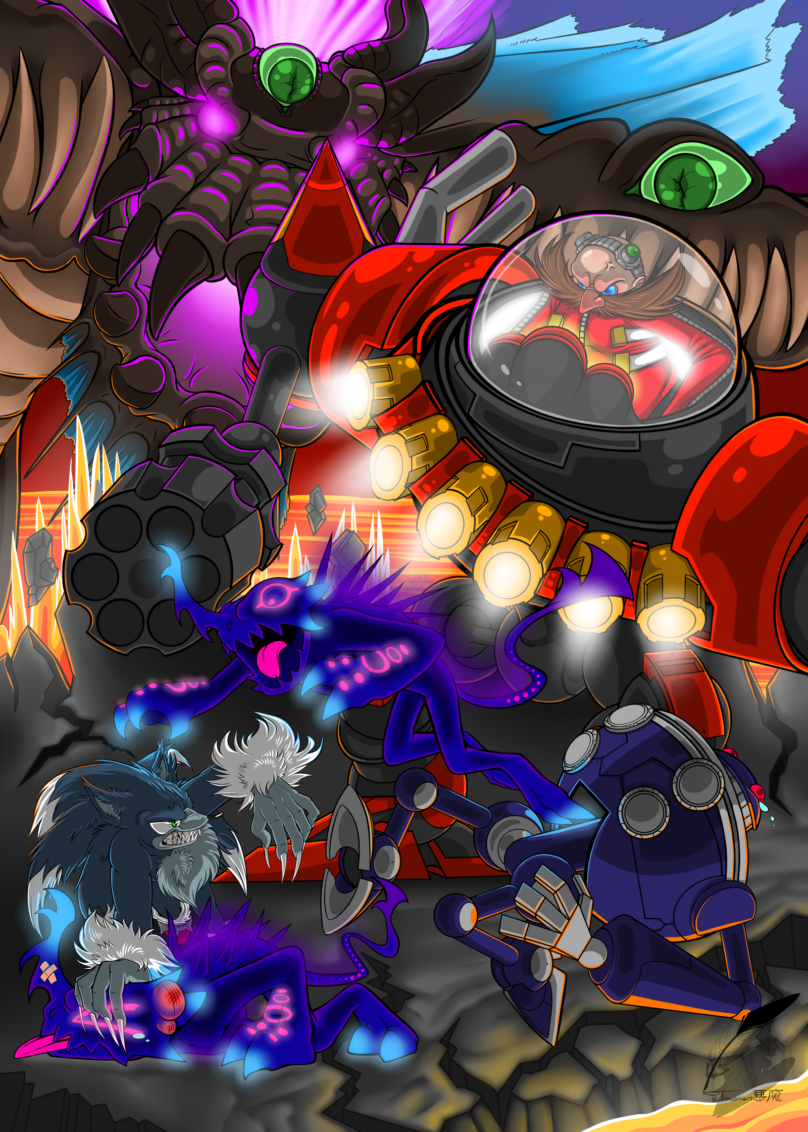 -Sonic Unleashed Poster- by Traconian