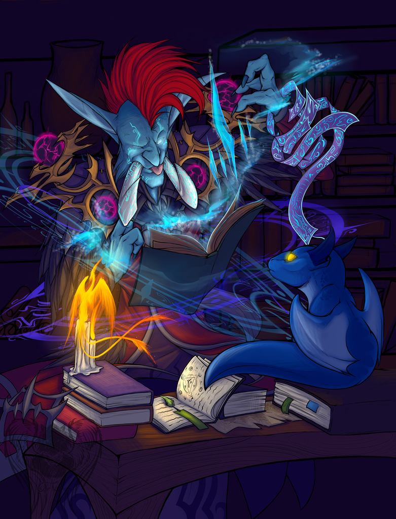 -Quirky Ice Mage, Red- by Traconian