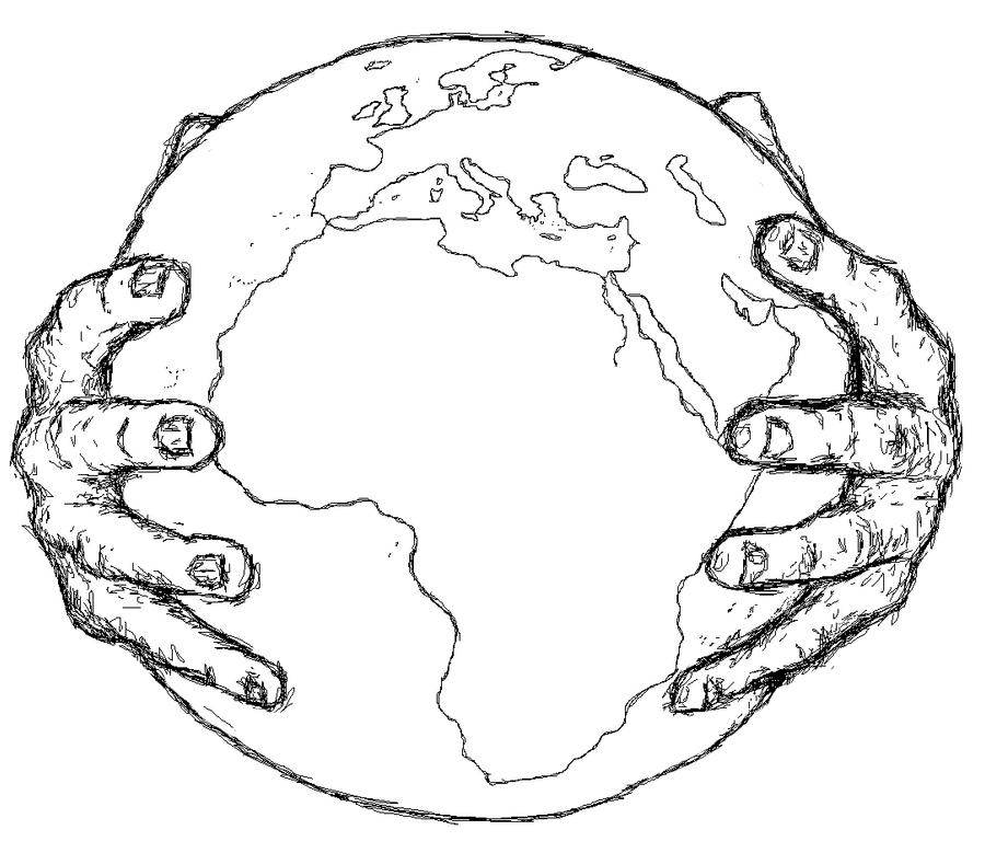 The world in your hands by koffski93 on DeviantArt