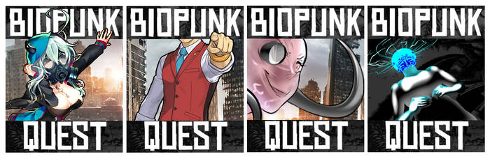 Biopunk Quest Titlecards