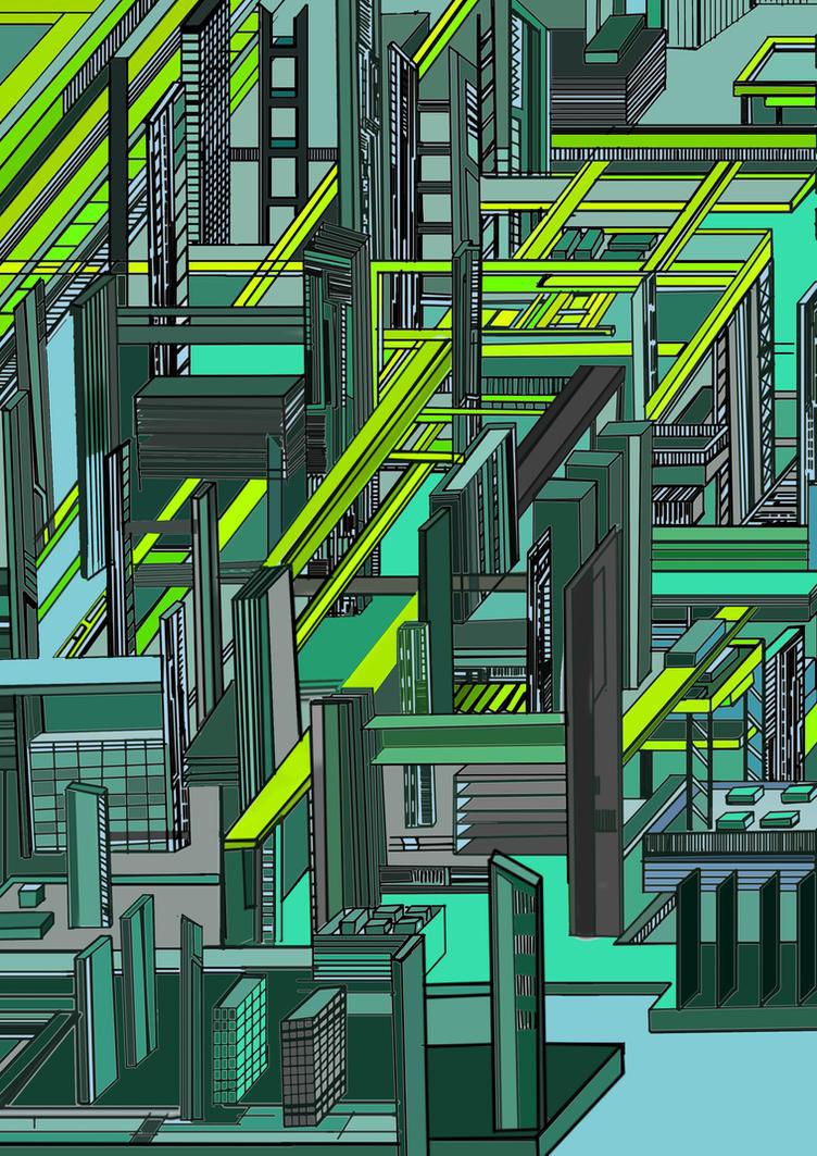 Future city vector art by Katastract