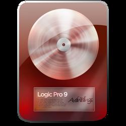 Deep Red Logic Pro Icon