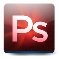 Deep Red Photoshop Icon