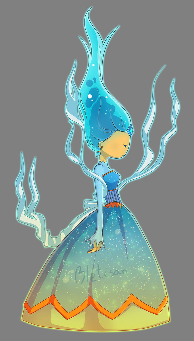 Blue Flame Queen OC by Bletisan