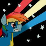 The Wonderbolt Newbie Rainbow Dash