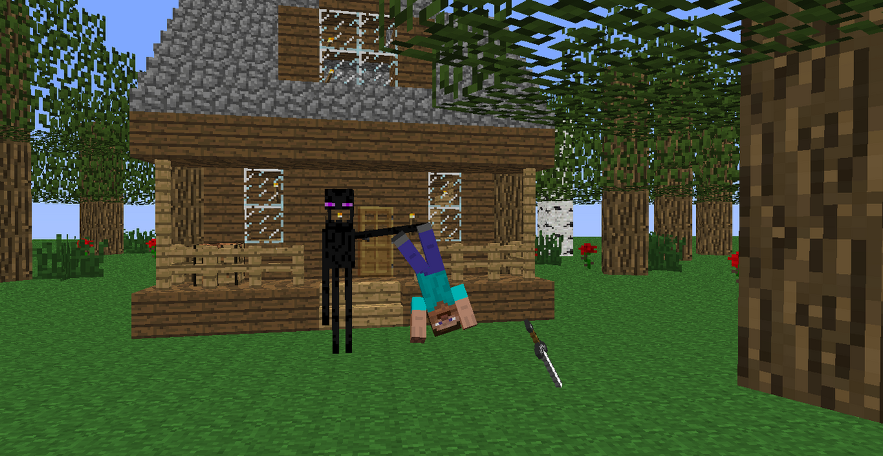 House in the woods dangers of rural minecraft by for Rural net cool ca