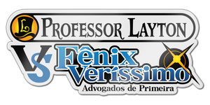 Professor Layton vs Phoenix Wright PT-BR Logo