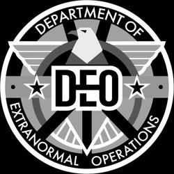 DEO Logo grayscale on black