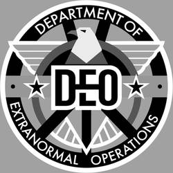 DEO Logo grayscale on Gray
