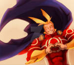 Warm Smiles from All Might by lady-blackwings