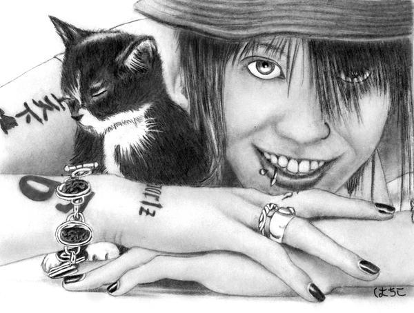 Miyavi With Kitten By Spiritwolf19 On Deviantart