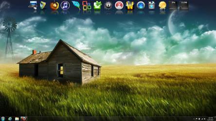 Current Desktop by SpiritWolf19