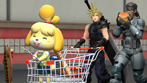 Cloud, Isabelle, and Snake Shopping