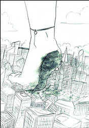Feet vs Buildings by JhonAir