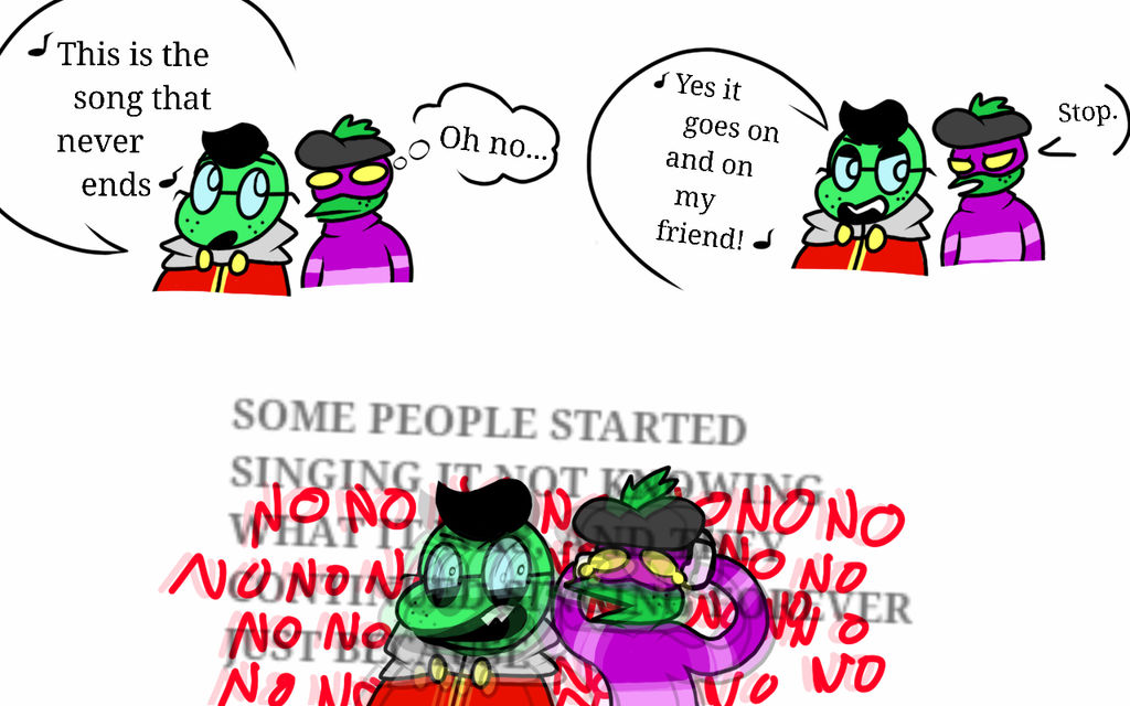 The Song That Never Ends Ft Fawful And Popple By Mimik You On Deviantart This is the song that never ends 16076 gifs. the song that never ends ft fawful and