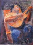 Nanua Playing Guitar
