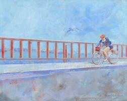 Cycling on the Golden Gate by tutanvaly