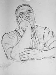 Thoughtful Man - Sketch no #003