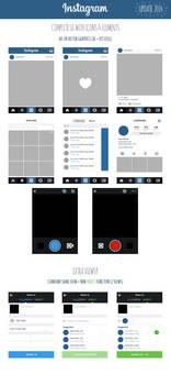FREE Instagram Complete Vector UI 2014