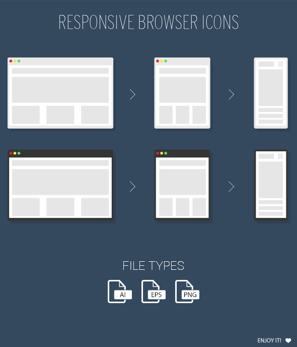 FREE Responsive Browser Icons by MarinaD