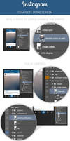 FREE Instagram Home Screen PSD Layout
