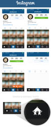 Instagram Profile Screen Layout PSD by MarinaD