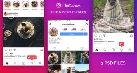 FREE Instagram PSD UI 2017