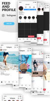 Instagram Mockup Feed and Profile in PSD
