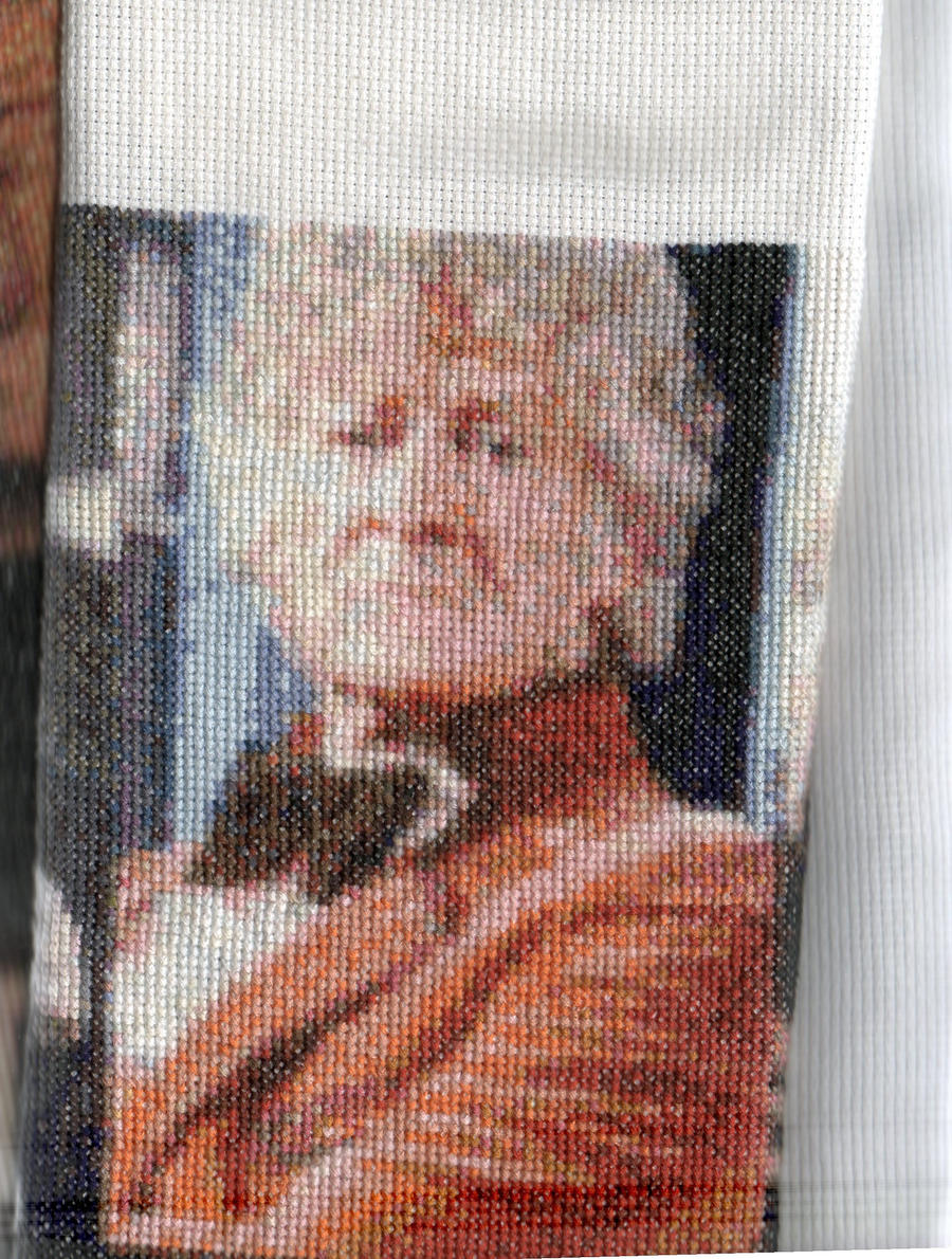 Salford1's 3rd Doctor Who - Jon Pertwee - Cross Stitch