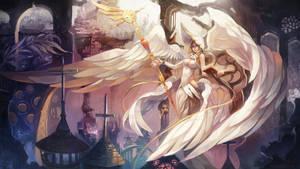 Angel priest underground city