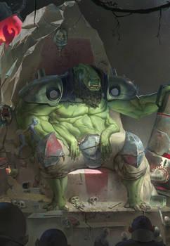 Oni on Throne  - Fragged Empire