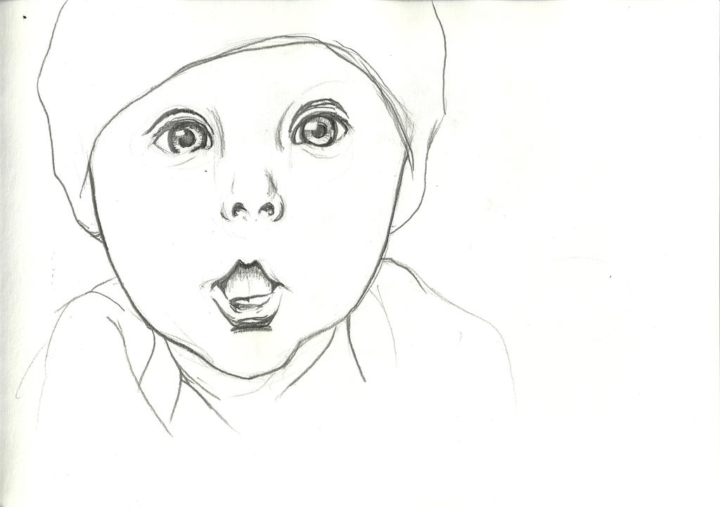 Line Drawing Of Baby Face : Cyru cyprian stachowicz deviantart