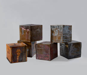 ceramic cube's by lucy7777