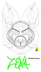 Zena the striped hyena WIP
