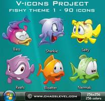 V icons - Fishy Theme 1 by Veinctor