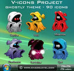 V icons - Ghostly Theme