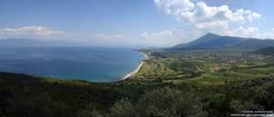 Greek Landscape Panorama by Veinctor