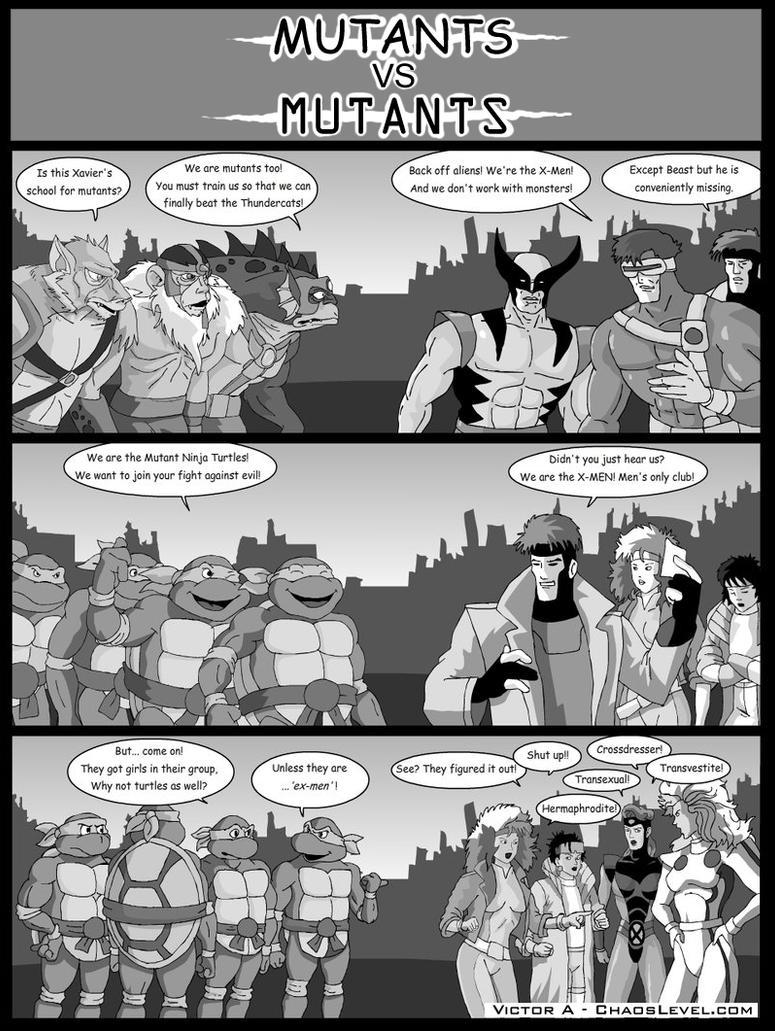 TMNT vs Mutants vs X-men by Veinctor