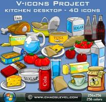 V icons - Kitchen Desktop by Veinctor