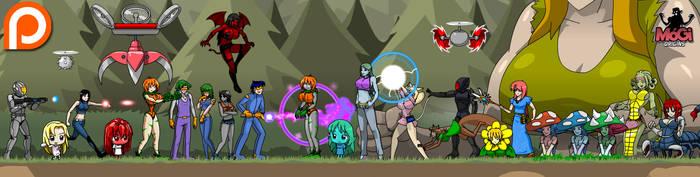 MoGi Origins characters by Veinctor