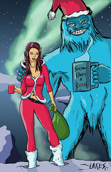 Elf And Yeti Color Small