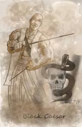 Black Ceasar Snake Skull